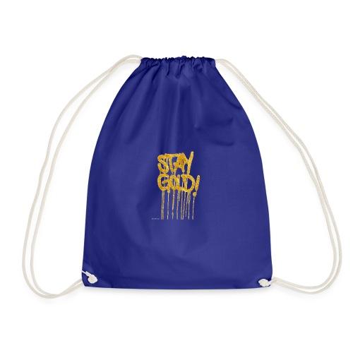 stay gold - Drawstring Bag