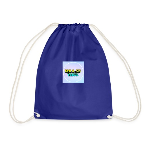 Bro & sis vlogs merch - Drawstring Bag