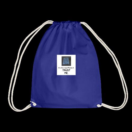 Paper iPhone X - Drawstring Bag