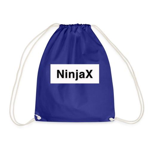 NinjaX Vit Svart - Gymnastikpåse