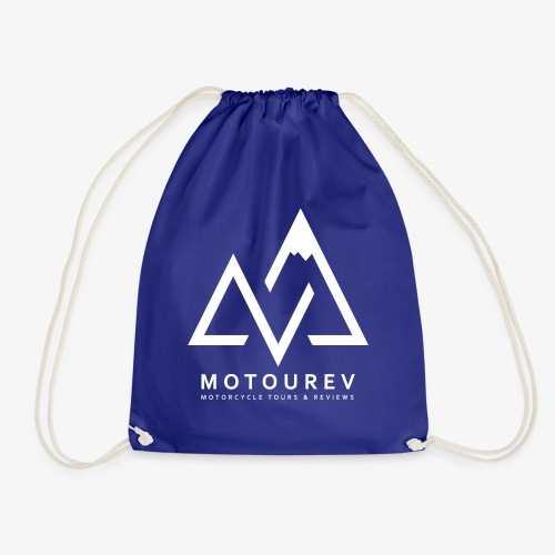 White MOTOUREV Small LOGO - Drawstring Bag