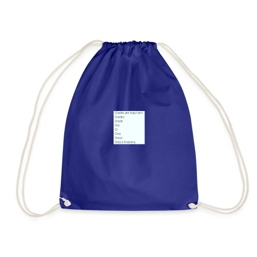 greys anatomy life - Drawstring Bag