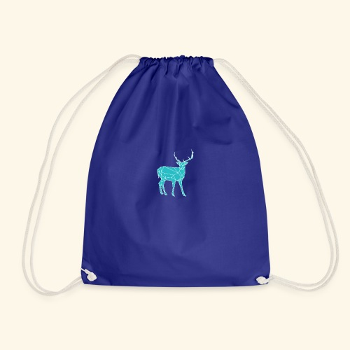 Blue Reindeer - Drawstring Bag
