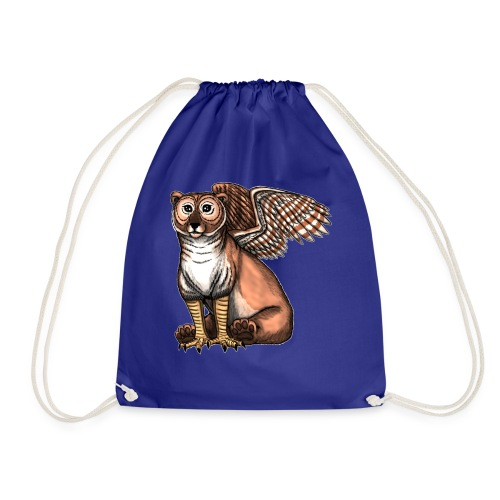 Bear Owl - The Cuter Cousin - Drawstring Bag