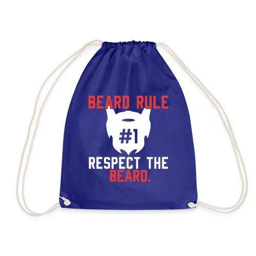 BEARD RULE 1 RESPECT THE RULE - Bart-Regel #1 - Turnbeutel
