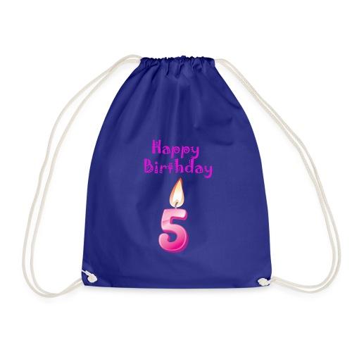 5 five with Candlelight Happy Birthday Geburtstag - Turnbeutel