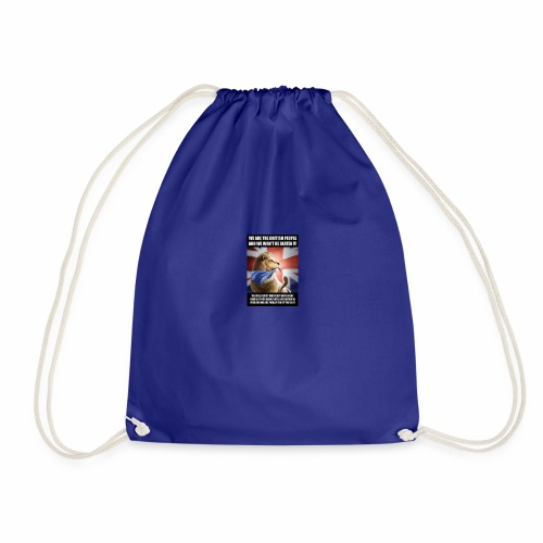 we are british people - Drawstring Bag