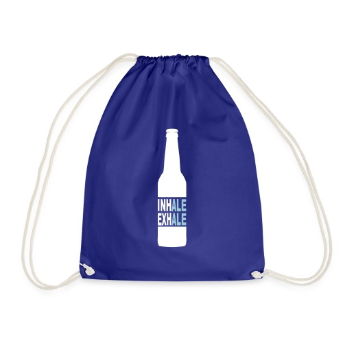 Inhale Exhale Craft Beer T Shirt - Drawstring Bag