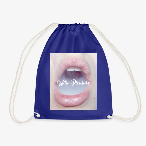 With Pleasure Mouth 2 - Drawstring Bag