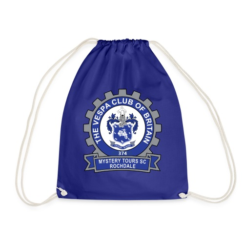 Mystery Tours Scooter Club Cog Badge - Drawstring Bag