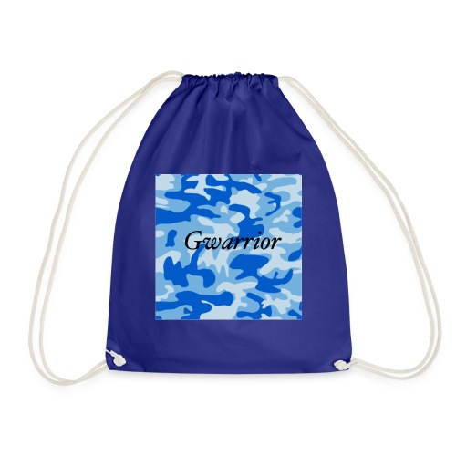 GWARRIOR BLUE CAMMO TSHIRT - Drawstring Bag