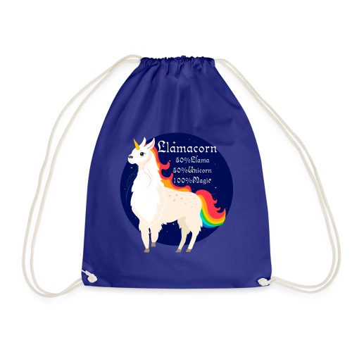 Llamacorn rainbow - Drawstring Bag