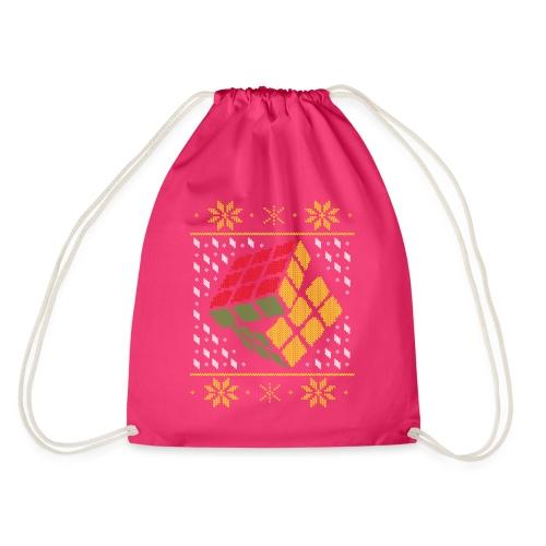 Rubik's Cube Ugly Christmas - Drawstring Bag