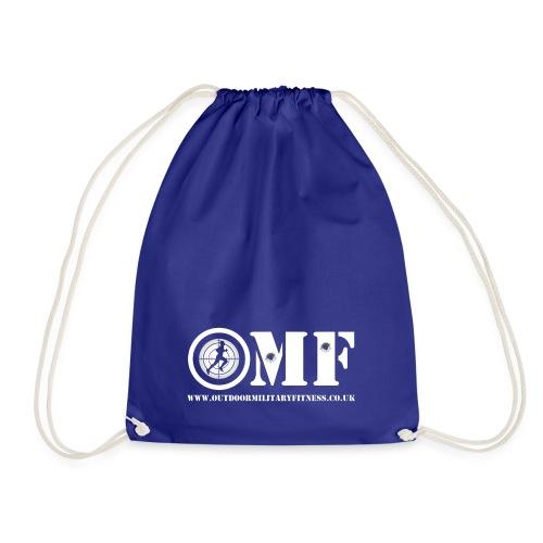 OMF white logo - Drawstring Bag
