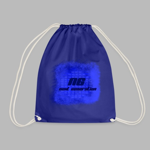 The blue bags - Drawstring Bag