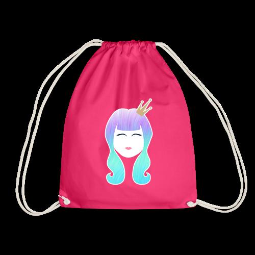 Mermaid Princess rainbow hair - Drawstring Bag