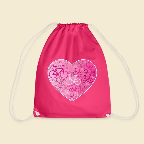 Kunstrad | Mein Herz rosa - Turnbeutel