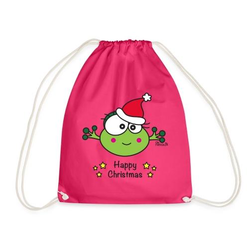 Grenouille F, Frog, Fêtes Nôel, Happy Christmas - Sac de sport léger