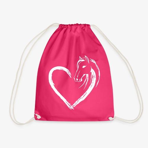 Vorschau: Pferde Herz - Turnbeutel