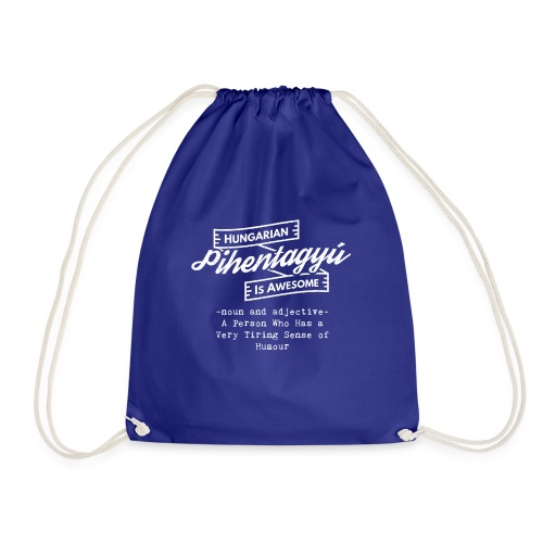 Pientagyu - Hungarian is Awesome (white fonts) - Drawstring Bag