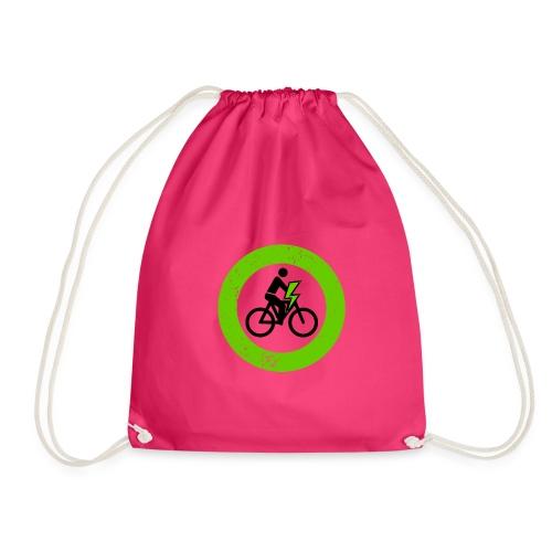 e Bike grün schwarz Schild Logo Emblem - Turnbeutel