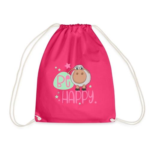 Be happy Schaf - Glückliches Schaf - Glücksschaf - Turnbeutel