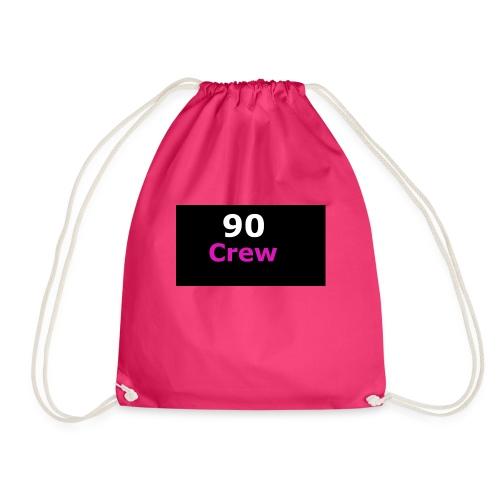 90 Crew Weiss Pink - Turnbeutel