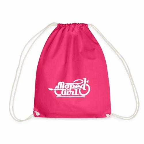 Moped Girl / Mopedgirl (V1) - Drawstring Bag