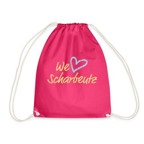 We love Scharbeutz - Logo sand/hellblau - Turnbeutel