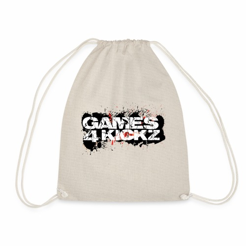Games4Kickz Logo Splattered Background - Drawstring Bag