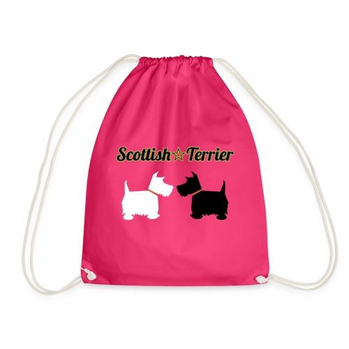 scottie bag design - Drawstring Bag