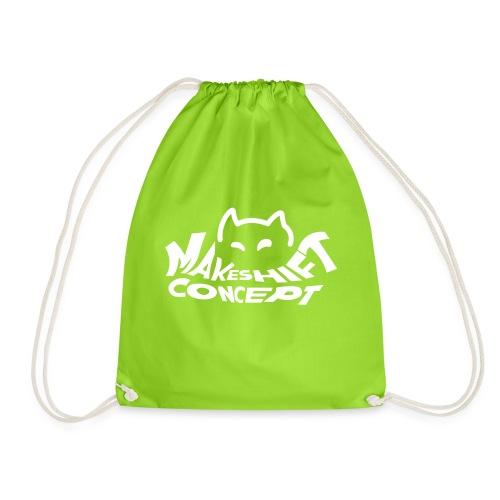 Makeshift Concept Cat Logo Weiß - Turnbeutel