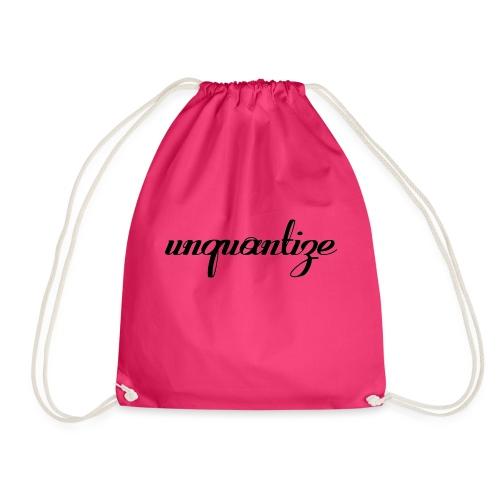 unquantize black logo - Drawstring Bag