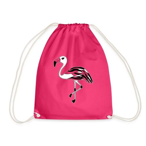 Flamingo schwarz-weiss - Turnbeutel