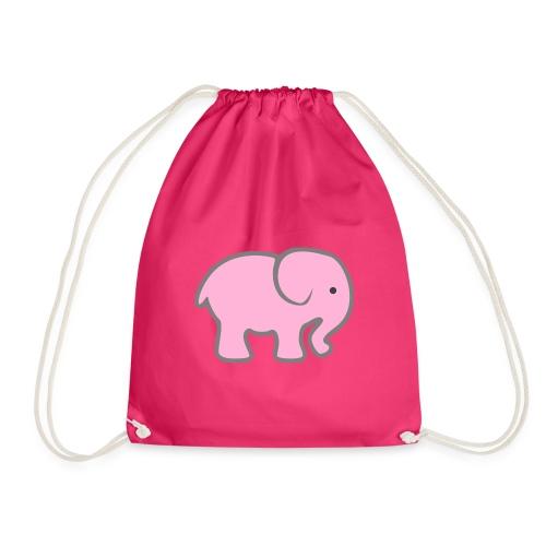 Pinker Elefant - Turnbeutel