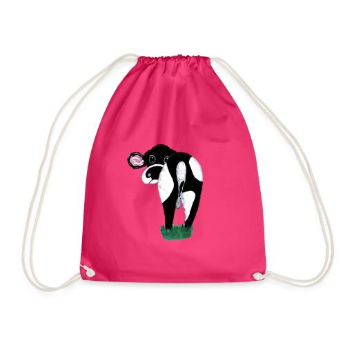 Quirky Cows Rear view - Drawstring Bag