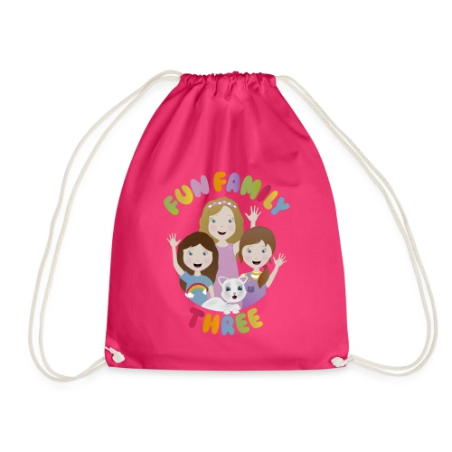 Fun Family Three Logo - Drawstring Bag