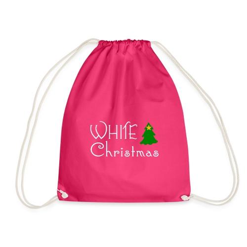 White Christmas - Drawstring Bag