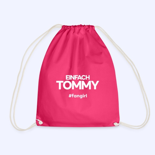 Einfach Tommy / #fangirl / White Font - Turnbeutel