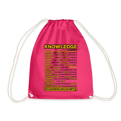 Knowledge (for musicians) - Drawstring Bag