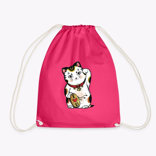 Love Lucky Cat - Drawstring Bag