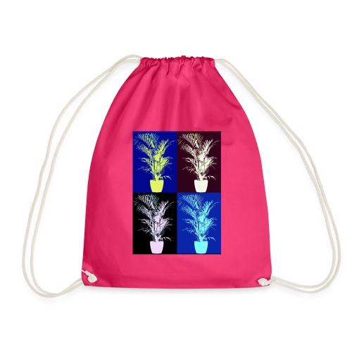 POP ART house tree - Drawstring Bag