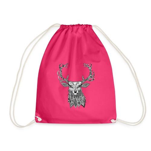 Ornate Buck Deer - Drawstring Bag