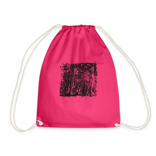 paintBlobBlack2 - Drawstring Bag