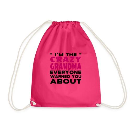 Crazy Grandma - Drawstring Bag