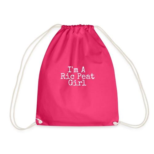 Ric Peat Girl (White Text) - Drawstring Bag