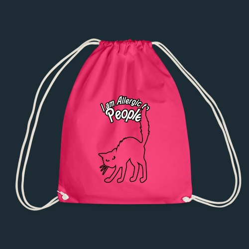 Allergy to People - Drawstring Bag