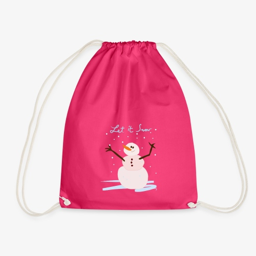 snowman let it snow - Drawstring Bag