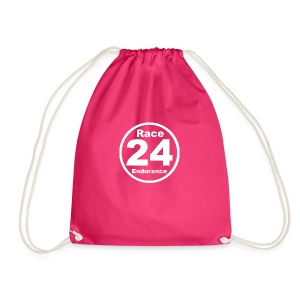 Race24 round logo white - Drawstring Bag