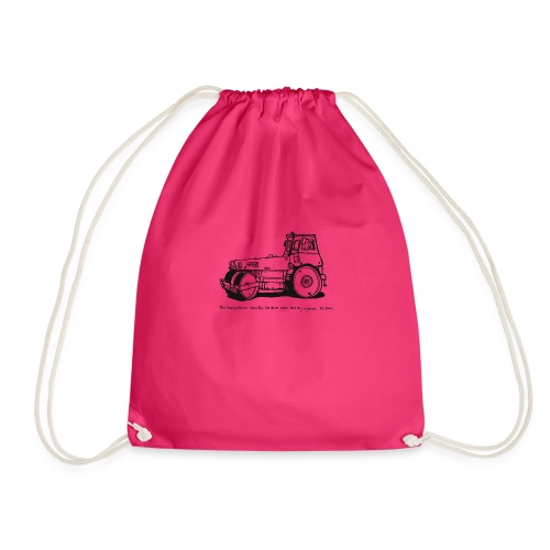 Heavy Roller Black - Drawstring Bag